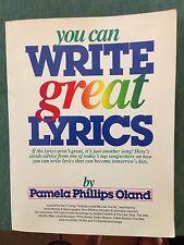 You Can Write Great Lyrics by Pamela P. Oland (1989, Paperback)