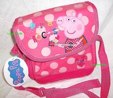 borsa a tracolla PEPPA PIG ROCKS bambina  cerniera e strappo rosa a pois NUOVA