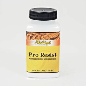 Fiebing's Pro Resist 4 oz Bottle Maximizes Contrast for Antiquing & Staining