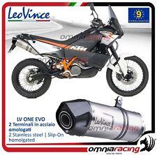 Leovince LV ONE Evo 2 Terminali scarico inox KTM 990 LC8 ADVENTURE /R 2006>2012