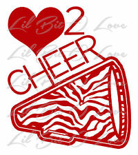 Love to Cheer Zebra Megaphone Vinyl Decal Cheerleader Sticker Cheerleading Car
