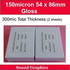 150micron 54mm x 86mm Laminating Pouches Film x 200's