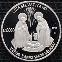 ITALIE VATICAN 10000 LIRES 1995 ARGENT