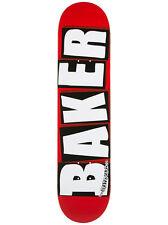 """Baker Brand Logo Skateboard Deck - 7.56"""" Red/White"""