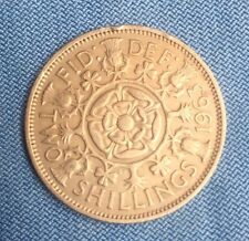 1 x Great Britain/UK/England 1963 two shillings florin coin............... #0878