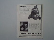 advertising Pubblicità 1955 TECHNICAL INDUSTRY BEMA  - AMSTERDAM HOLLAND