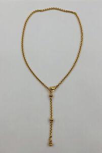 Fine Bvlgari Bulgari 18k Yellow Gold Catene Adjustable Chain Necklace - 24g