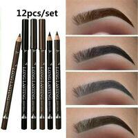 12PCS Waterproof Eye Brow Eyeliner Eyebrow Pen Pencil Makeup Cosmetic Tool ~~~