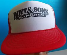Vintage Hoyt & Sons Ranches, Mesh Snapback Truckers Hat Cap Otto