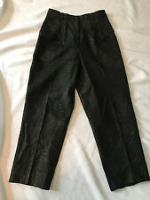 Vintage Cassidy Leather Fashions High Waisted Black Leather Pants Snakeskin 14