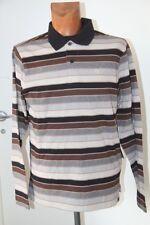 "Original  ES "" Cascade "" Tee shirt Polo Skate  rayé gris marron  Taille S neuf"