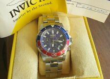 Boxed mens Invicta,sapphire g. 7052 Pepsi lunette quartz chronograph WR200,42 mm