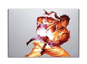 Ryu Ken Hadouken Holding Apple MacBook Pro / Air 15 Inch Vinyl Decal Sticker