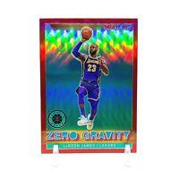 2019-20 NBA Hoops Premium Stock LeBron James Zero Gravity Red Prizm #18 - SP