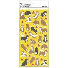 CUTE AKITA DOG STICKERS Sheet Paper Craft Scrapbook Animals Puppy Sticker Seal