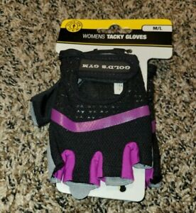 GOLD'S GYM Women's Tacky Gloves Ventilated Mesh Size Medium/large M/L