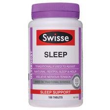 SWISSE ULTIBOOST SLEEP 100 TABLETS SUPPORT NATURAL RESTFUL HELP NERVOUS TENSION