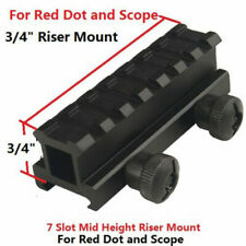 "3/4"" Inch High Riser Mount for Red Dot, 8 Slots Structure"