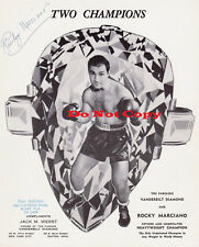 Rocky Marciano autographed 8x10 photo RP