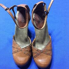 Splash Fashion Footwear Heels Brown Ankle Strap Size 7