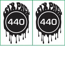 Six Pack 440 Engine Decal fits Road Runner, GTX, Superbird, Chrysler MG 2360