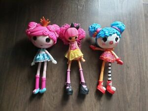 3 Lalaoopsy Dolls, selling as set only