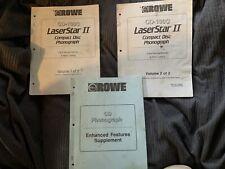 Rowe LaserStar II 2 CD Phonograph Jukebox Manuals