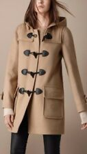 100% Authentic Burberry Brit Wool Duffle Coat Camel US 2 UK 4 New with Tag