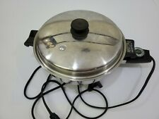 SALADMASTER 18-8 Tri-Clad Stainless 7817 Electric Skillet Used complete set
