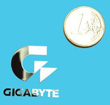 GIGABYTE METALISSED CHROME EFFECT STICKER LOGO AUFKLEBER 30x28mm [614]