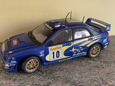 RARE SOLIDO 1/18 SUBARU IMPREZA N°10 MAKINEN  Rally WRC MONTE CARLO 2001