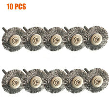 10Pcs 22mm Wire Wheel Polish Brushes For Dremel Rotary Grinder Accessories Tool