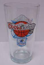 KANSAS JAYHAWKS KU Kansas Basketball IMG SPORTS NETWORK COORS LIGHT BEER GLASS