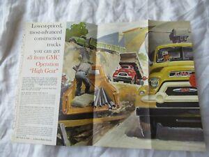GMC trucks  brochure print AD poster