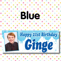 Personalised Photo Birthday Party Banners Posters Packs Any Event Age Name A008