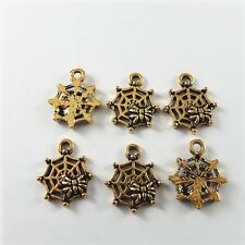 51691 Antique Bronze Mini Cobweb Spider Pendants Charms Findings Crafts 59pcs
