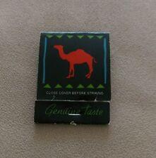 Vintage Matchbook How many Camels does it take to light a match Camel Cigarette