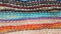 Joblot 18 strings mixed colour Tear drop shape Crystal beads new wholesale