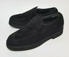 Hush Puppies Black Suede Women's Loafers 5.5 M