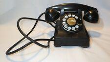 Vintage Bell System Black Bakelite Rotary Desk Telephone F1 Western Electric