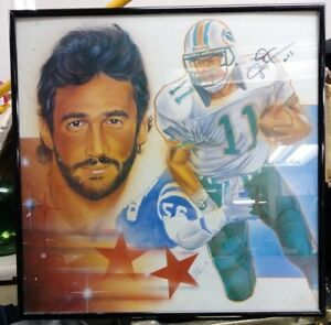 Jim Jensen Miami Dolphins Autographed Art With Frame