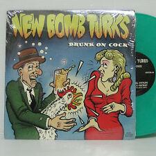 """NEW BOMB TURKS - Drunk On Cock 10"""" BLUE VINYL 1993 US ORIG SUPERSUCKERS ZEKE LP"""