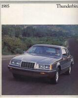 1985 Ford Thunderbird Sales Brochure Book Turbo Fila
