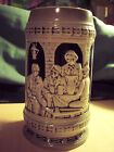 A Beautiful German Style Cobalt Blue Beer Stein with a Crown Trade Mark