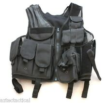 Tactical Vest Modular Elite Command with Duty Belt, Ammo Drop Pouch BLK
