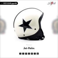 SOXON SP-301 Star Creme Jet-Helm Motorrad-Helm Vespa Roller Chopper XS S M L XL