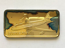 1975 Hamilton Mint Boeing 707 Silver Art Bar HAM-645G A5015