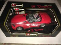 BBurago Dodge Viper RT/10 1992 Made in Italy 1:18 Scale Code  3025