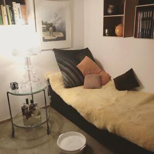 Lammfelldecke Unterbett  für natürliches Schlafen ca 90x190cm Gerberei Oechslen