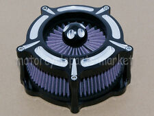 Contrast Cut Turbine Air Cleaner Intake Filter For Harley Touring Models 08-2016